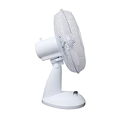 "Oypla Electrical 12"" 3 Speed Oscillating Electric Desk Home Office Fan"