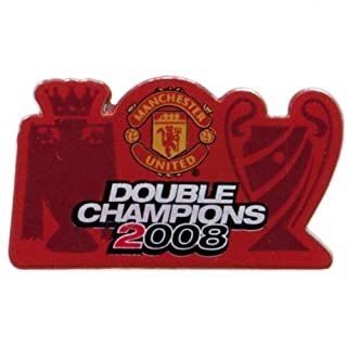 Manchester United FC Official Double Champions Pin Badge