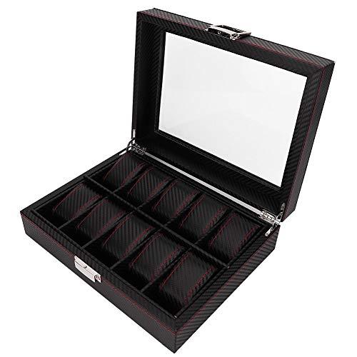 Nannday Uhr Display Speicher, 10 Grids tragbare Travel Box Collector Case Organizer für Ringe Ohrring Home -