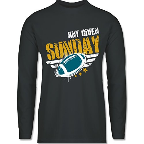 Shirtracer American Football - any Given Sunday Football Jacksonville - Herren Langarmshirt Dunkelgrau