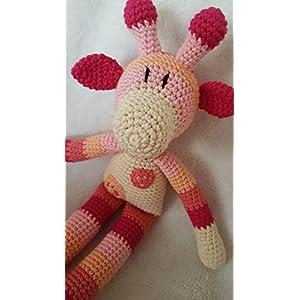 Häkeltier Giraffe - BIO-Baumwolle - handgemacht - 35 cm