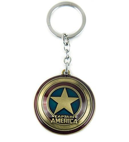 Lzy Store Captain America scudo Super Hero Borsa Accessori per portachiavi, Copper