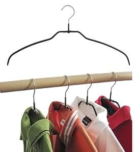 kleiderb gel aus metall drahtb gel schwarz rutschhemmend beschichtet f r hemden oder blusen 4. Black Bedroom Furniture Sets. Home Design Ideas