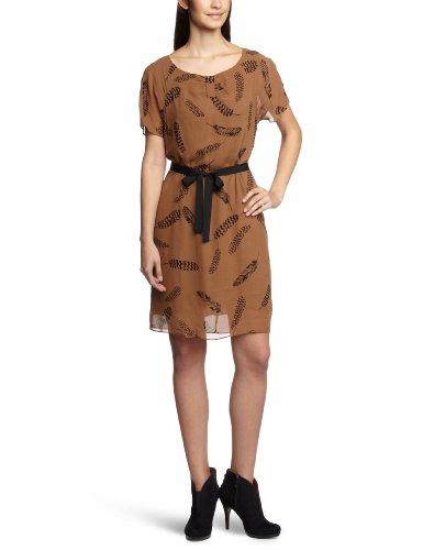 InWear - Vestito, collo rotondo, manica corta, donna Beige (Beige (17A Caramel))