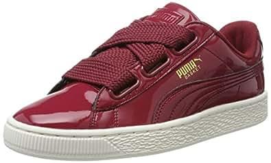 Puma Damen Basket Heart Patent Sneaker, Rot (Tibetan Red-Tibetan Red), 36 EU