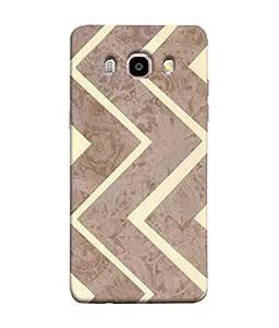 PrintVisa Designer Back Case Cover for Samsung Galaxy On8 Sm-J710Fn/Df (Artistic Design Of Brown Zig Zag Pattern)