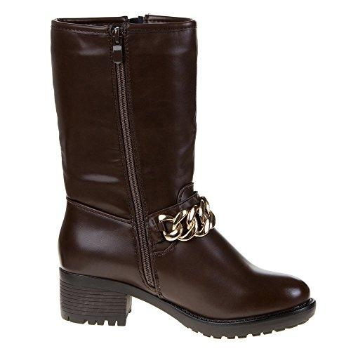 Damen Schuhe, 899-PA, STIEFEL Dunkelbraun