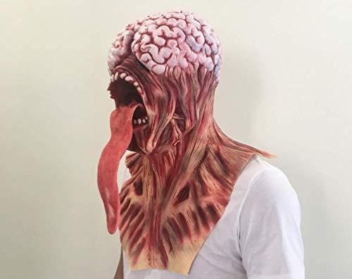 FYN Halloween Und Weihnachts-Latex-Maske, Horror-Maske, Beängstigend Knifflig Rot Resident Böse, Prank Maske Gesichter Beängstigende Halloween-Kostüm-Party, Bar-Requisiten, Maskerade