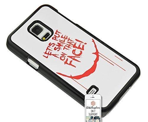 3 JAHRE GARANTIE - BEST QUALITÄT - Handytasche Case Cover Case Cover Hülle für Samsung Galaxy S5 Mini SM - G800 - Weiß - Rot - Joker - Batman - Scary - smile Lächeln - Lassen Sie uns ein Lächeln auf dieses Gesicht - Blutige - Blutung - Blut - Drop - It - Fun - Nachreicht Case - Nachreicht - Zeichnung - Entwurf - Idea - Writing - modern - vintage Jahrgang Stil - Legierung Drucken - Beständig - Cool - HD - glossy glänzend