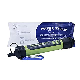 Haonyac Filtration Straw -Portable Water Filter Straw Purifier Survival Gear and Survival Kit, 1500L Emergency Camping Equipment 3-stage Filtration,0.2 microns, Survival Kit Hurricane Storm Supplies