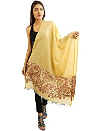Funkia™ Summer Cool Pure Cotton Stole With Ambi Jacqaurd Cutting Work Boarder And Self Design All Over