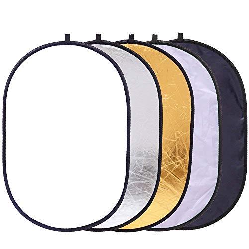 Reflektor Panel 88,9x 119,4cm/90x 120cm Playstation Oval Reflektor mit Griff für die Fotografie Foto Studio Beleuchtung & Outdoor Beleuchtung -