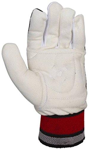 KOOKABURRA Cricket Sport Gepolsterte chamois Wicket Keepers bequeme Handschuh Inners, weiß