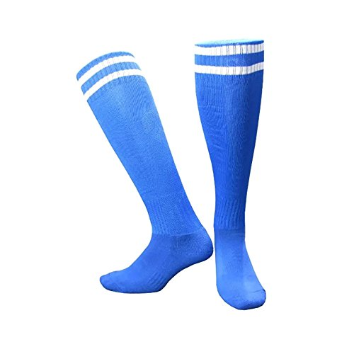 Zwei Streifen über das Kalb Team Athletic Socken Wingbind Streifen Rohr Knie Strumpf absolvierte Leistung Socken Cheerleading Tube Fußball Hockey Sport Socken -