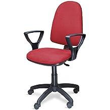 Poltrona sedia ufficio con ruote altezza regolabile studio casa ROSSA 301/T/R