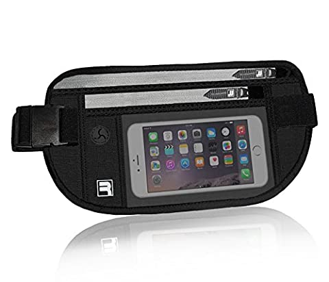 RFID Ceinture de Voyage avec écran Tactile. Discrète, Secrète, Cachée Passeport Pochette de Ceinture
