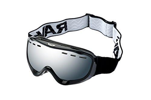 Ravs downhill Unisex Snowboardbrille Skibrille Rahmen silver Disc Scheibe