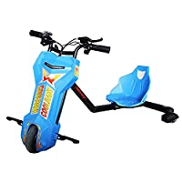 Cool Baby 36V Brushless Drifting Electric Scooter Drift Car Kids Scooters with Bluetooth & 3 Speed 3 Wheel Toy - Blue