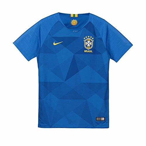 Nike Brasil CBF Stadium Away - Camiseta para niño, Infantil, 893969-453, Soar/Midwest Gold, XS