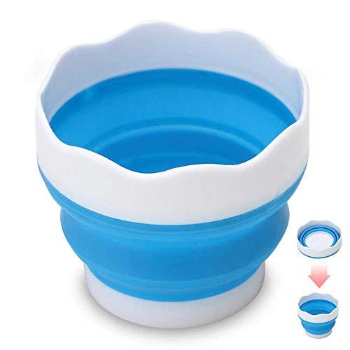 MOGOI Faltbarer Eimer Pinsel Waschbürste, tragbar, Teleskop-Silikon-Wasserbecher für Aquarellmalerei Kunstbedarf