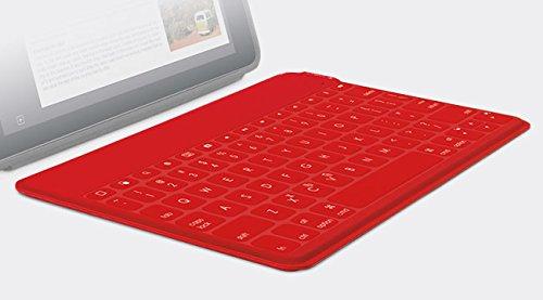 Logitech Keys-To-Go - Teclado QWERTY ultraportátil para Apple iPad, iPhone, Apple TV, rojo - QWERTY Español