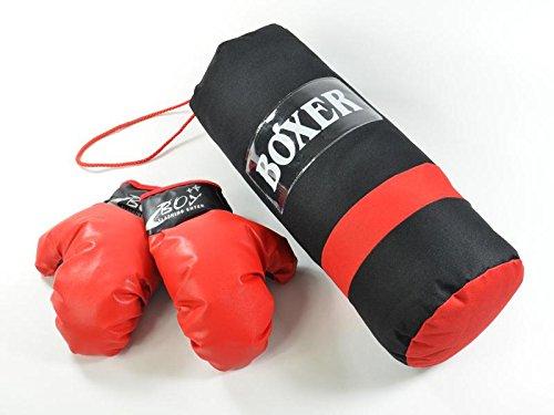 Kinder Boxset rot / schwarz inklusive Handschuhe
