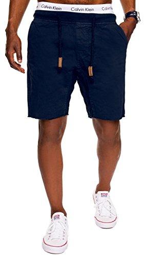 INDICODE Herren Shorts Carver Destroyed Used Look Cargo Bermuda Kurze Hose Jeans-Shorts Kariert Karo Chino Battlefield Carver 70-049 Blau XL