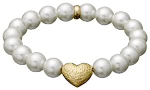 Pilgrim Jewelry Damen Armband Messing Perlmutt Classic 17.0 cm weiß 601412092