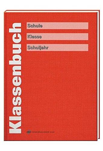 Klassenbuch, rot