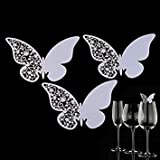 50pc erfly Shaped erfly Wine Glass Paper Card Laser Cut Escort Cup Name Place Card Birthday Party Wedding Decorations
