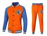 CoolChange Dragon Ball Son Goku Trainingsanzug im Baseball Style mit Jacke und Hose, Größe: L