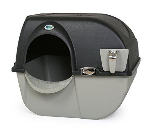 #Omega Paw Elite Selbstreinigende Roll 'n Clean Katzentoilette, Mitternachtsschwarz, Größe L#