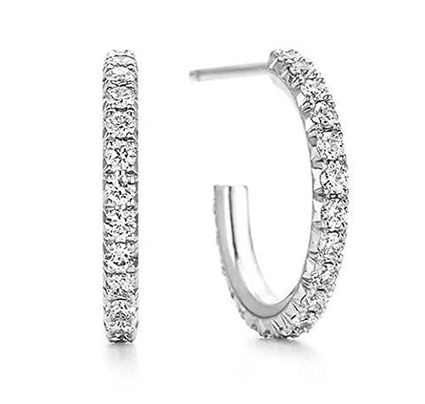 Pour Boucles d'oreilles créoles 30mm tendance Sexy Qualité supérieure Pavé Diamants artificiels