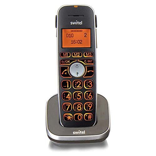 Switel D10 Vita Comfort, zusätzliches DECT Mobilteil für die Vita Comfort-Serie mit großen beleuchteten Tasten und Display, hörgerätekompatibel