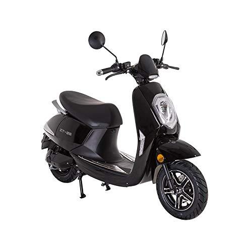 Lunex Scooter eléctrico Adulto E-Scooter 1200W Retro Vespa Moto Ciclomotor 45km/h Negro