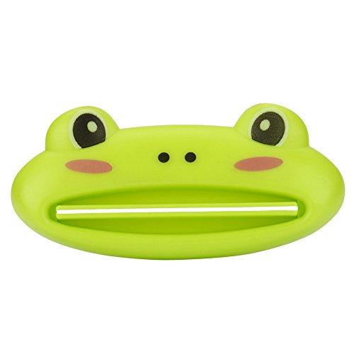 OHQ Presse-Agrumes Dentifrice Hot Salle De Bains Maison Tube Porte-Rouleau Squeezer Distributeur Facile De Dentifrice Cartoon R (vert)