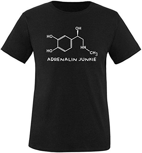 EZYshirt® Adrenalin Junkie Herren Rundhals T-Shirt Schwarz/Weiss