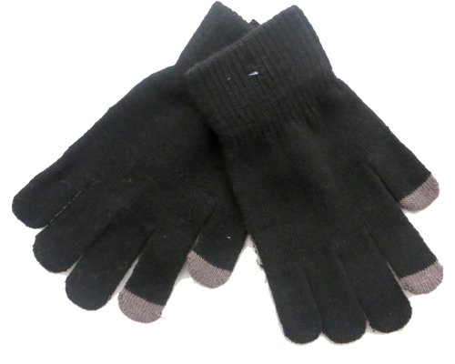 Preisvergleich Produktbild Mens Touch Screen Gloves for iPhone,  iPad,  Blackberry,  Samsung,  HTC and other smartphones,  PDA's & Sat navs,  Black
