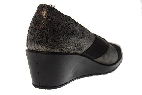 ENVAL SOFT scarpe donna ballerine zeppa 89412/00 Antracite