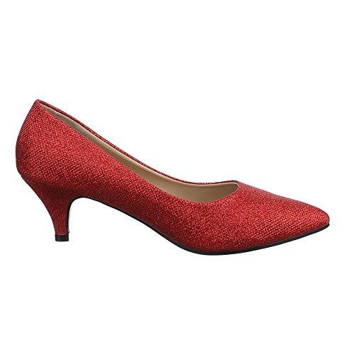 ... Ital-Design - Scarpe chiuse Donna Rosso