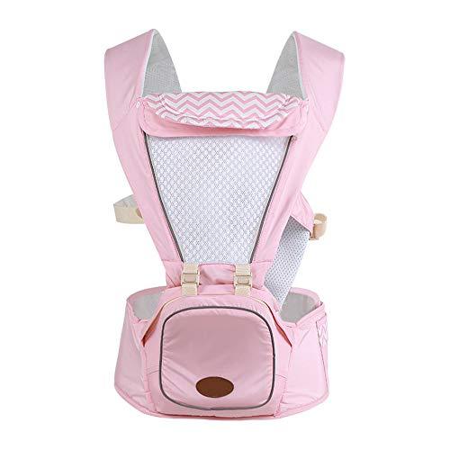 BABY CARRIER Babytrage ergonomische abnehmbare Winddichte Kappe universelle Hüft-Rücken-Verlängerung mit Vier Jahreszeiten für Neugeborene Babytrage,Pink