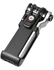 Trelock Faltschloss Trigo Kombi mit HalterFS 200/70 Code mit Halter ZC 200, schwarz/grau, 4032191820415
