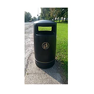 The Hefton 120 Litre Contemporary Styled Round Plastic Outdoor Litter Bin