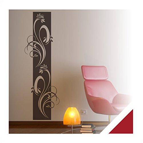 Exklusivpro Wandtattoo Wandbanner Ornament Ranke Wohnzimmer Schlafzimmer Bordüre (ban38 dunkelrot) 180 x 58 cm mit Farb- u. Größenauswahl