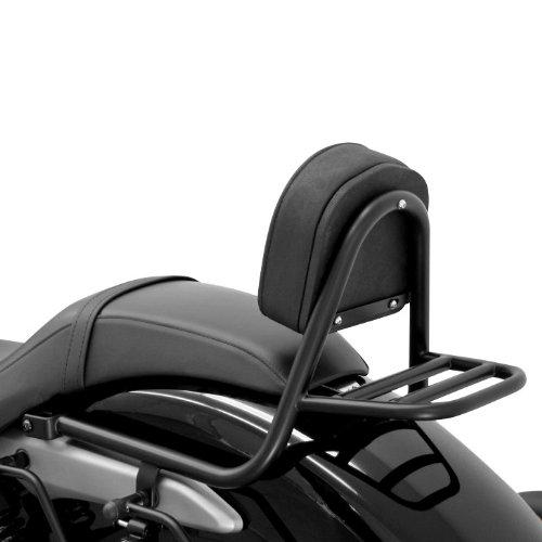Gepäckträger Honda Motorrad (Sissy Bar + Gepäckträger Fehling Honda Shadow 750 Black Spirit (VT C2B) 10-16 schwarz)