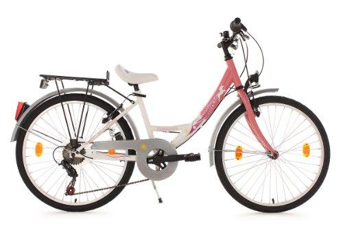 KS Cycling Kinder Fahrrad Kinderfahrrad Fabulous RH 36 cm, Rosa, 24, 859B