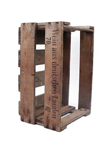 Originale alte Pfälzer Weinkiste aus echtem Holz mit Aufdruck - 2. Wahl