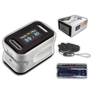 Pulsoximeter Finger Pulsoxymeter Original Tiga Gold 2 Premium mit OLED Anzeige+ dt. Anleitung + zertifizierte Qualität Fingertip Pulsoximeter