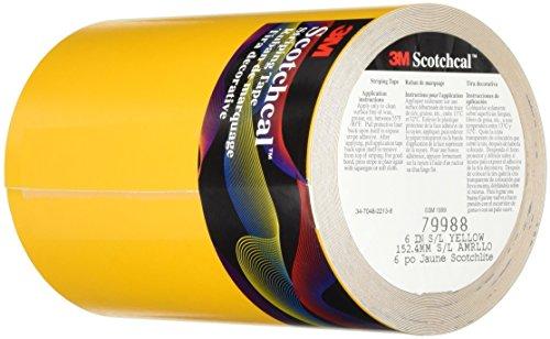 3M Scotchlite Reflective Striping Tape, Yellow, 6-Inch by 50-Foot by 3M 3m Scotchlite Reflective Material