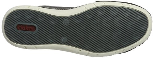 Rieker Herren B8254 Slipper Grau (anthrazit/anthrazit/amaretto / 45)